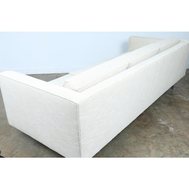 White White Mid-Century Sofa With Chrome Legs For Sale - Image 8 of 11