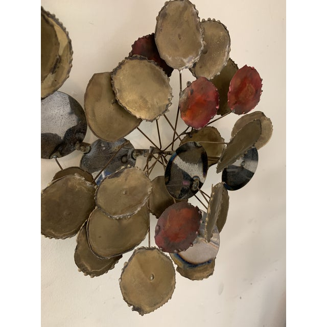 """Red Vintage 1979 """"Raindrops"""" Sculpture in the Manner of Curtis Jere For Sale - Image 8 of 13"""