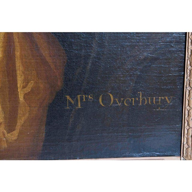 18th Century English Portrait of Mrs. Overbury Circle of Sir Godfrey Kneller For Sale - Image 11 of 13