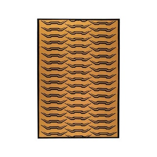 "Tiger Stripe Cashmere Blanket, 51"" x 71"" For Sale"