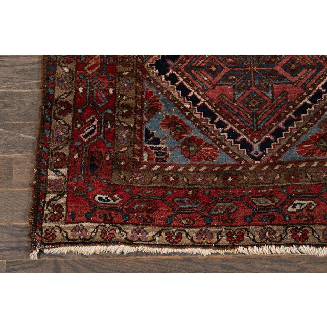 Vintage Heriz Wool Rug 3'7'' X 6'5'' For Sale In New York - Image 6 of 13
