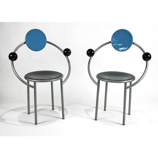 Memphis 1980s 'First Chairs' by Memphis Milano Designer Michele De Lucchi - A Pair For Sale - Image 3 of 9