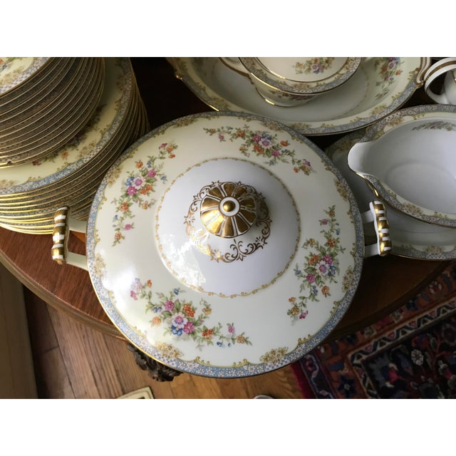 1940s Vintage Rare 1947(M)Naomi by Noritake China Dinnerware 96 Pieces- Service for 12/ Final Reduction For Sale - Image 5 of 9