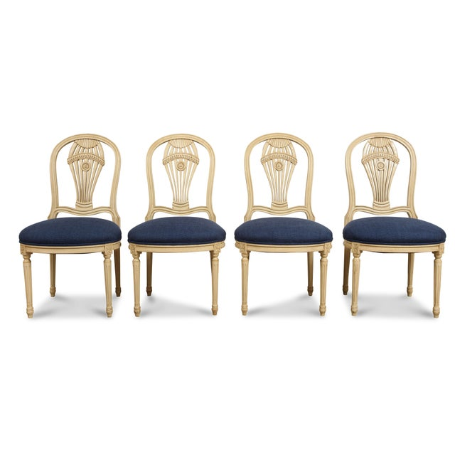 1940s 1940s Vintage Balloon Back Chairs- Set of 4 For Sale - Image 5 of 5
