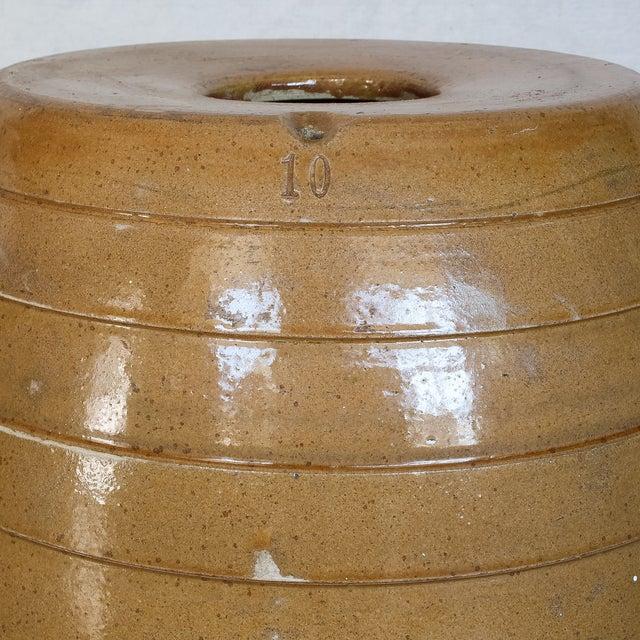 Mid 19th Century 10 Gallon Stoneware Keg Barrel For Sale - Image 7 of 11