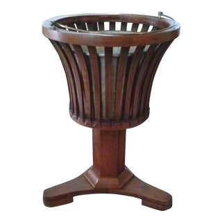 Wooden Pedestal Planter