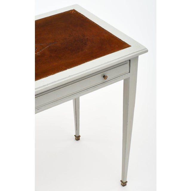 1900s 1900s Painted French Antique Writing Desk For Sale - Image 5 of 10 - Exquisite 1900s Painted French Antique Writing Desk DECASO