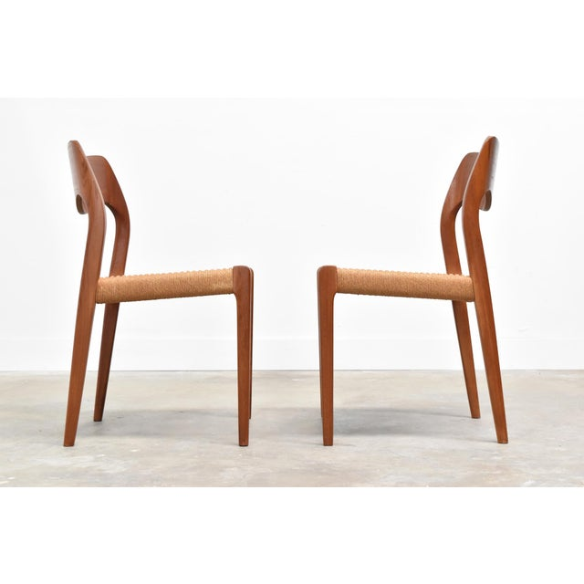 Danish Modern j.l. Møller Model 71 Teak Dining Chairs - Set of Six For Sale - Image 10 of 13