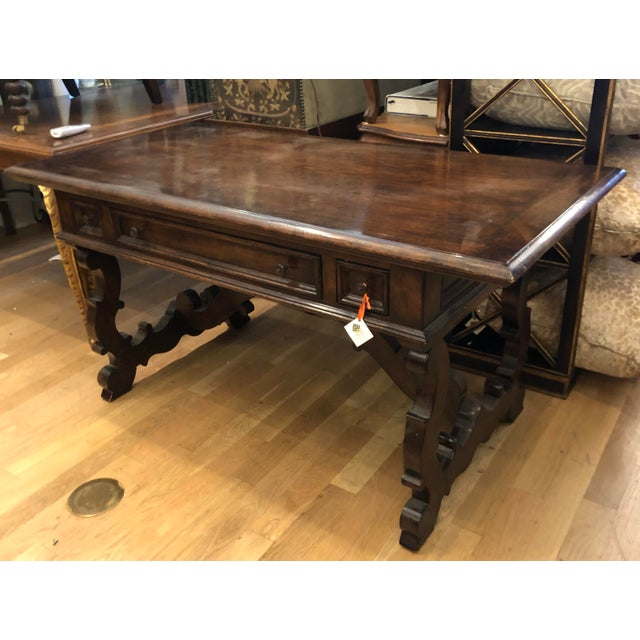 18th C Style Carved Walnut Spanish Colonial Sofa Table Writing Desk Chairish - Sofa Table Writing Desk