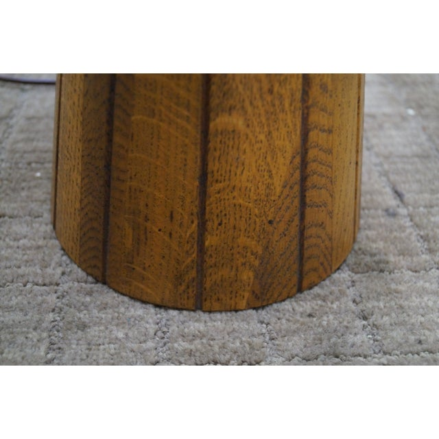Brandt Ranch Oak Cone Shaped Table Lamp - Image 4 of 10