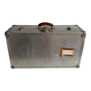 1950s Aluminum Cabin Steamer Trunk by Albana Germany For Sale
