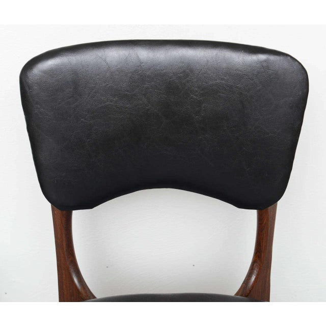 Black 1970s Rosewood Chairs by Don Shoemaker, Mexico For Sale - Image 8 of 9