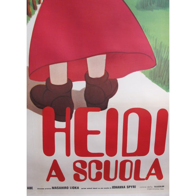 Illustration 1985 Original Oversize Movie Poster (Italian Version) - Heidi For Sale - Image 3 of 6