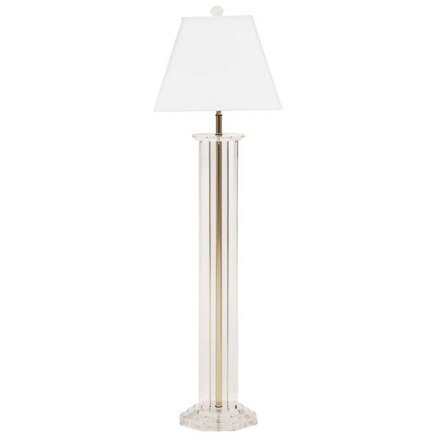 Lucite Floor Lamp For Sale In New York - Image 6 of 6