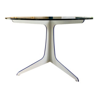 Contemporary Glass Top Dining Table For Sale