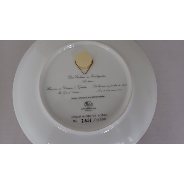 Hutschenreuther Fine German China Wall Plate For Sale - Image 5 of 7