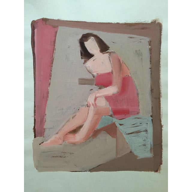 Jerry Opper Mid Century Bay Area Figurative Painting For Sale - Image 4 of 4