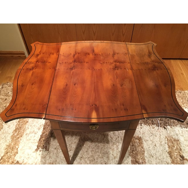 American Classical Baker Drop Leaf Side Table For Sale - Image 3 of 4