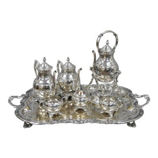 F. B. Rogers Silver Co. Silver Plate Coffee Tea Set For Sale