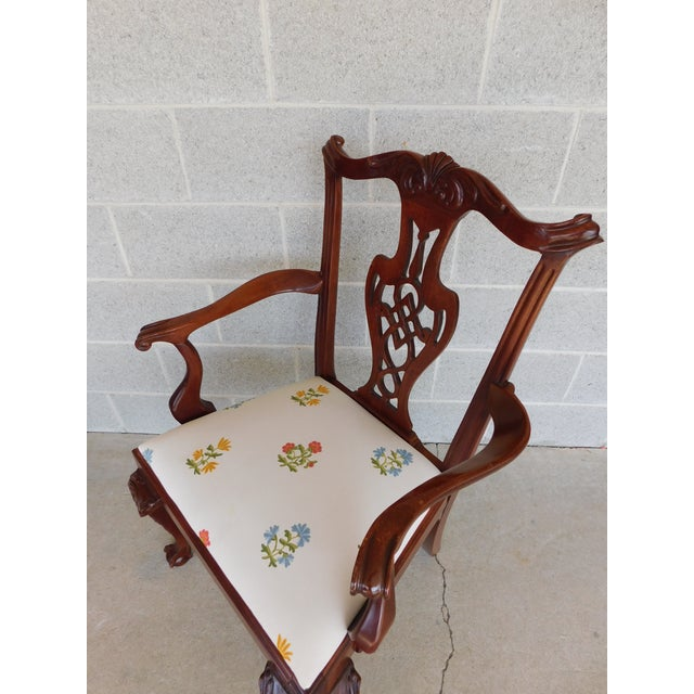 Quality Chippendale Style Mahogany Ball & Claw Foot Side Chairs - Set of 6 For Sale In Philadelphia - Image 6 of 13