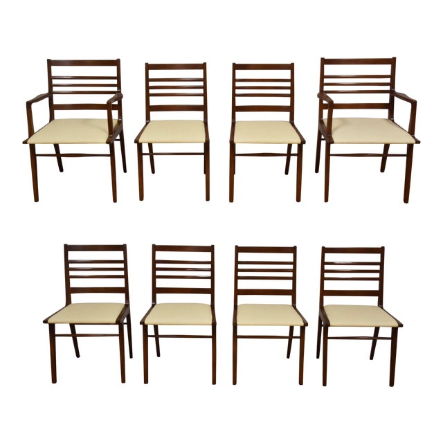 Rway White Dining Chairs - Set of 8 For Sale