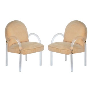 Vintage Lucite Armchairs in the Style of Charles Hollis - a Pair For Sale