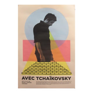 2019 Contemporary Movie Poster - Avec Tchaïkovsky Film De Marc-André Girard For Sale