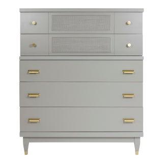 Vintage Mid-Century Modern 5-Drawer Gray Dresser
