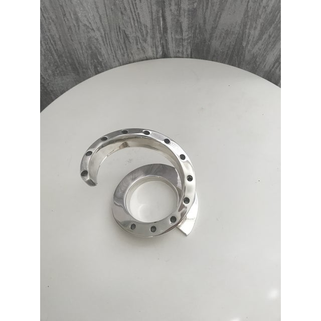 Mid-Century Dansk Spiral Chrome Candle Holder - Image 4 of 4