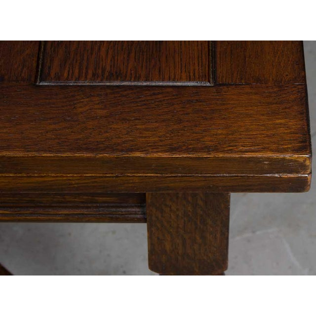 1920s English Traditional Barley Twist Oak Pub Table For Sale In Atlanta - Image 6 of 10