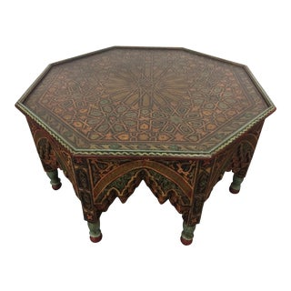 20th Century Moroccan Octagonal Coffee Table For Sale