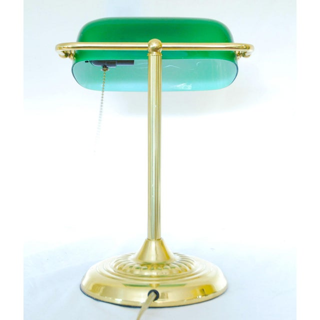 The vintage Bankers Lamp has always been one of my favorites...so classic - Vintage Brass Bankers Desk Lamp With Green Glass Shade Chairish