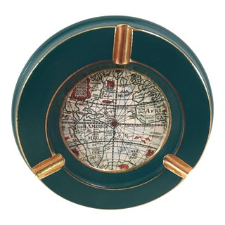 Mid-Century Italian World Map Ashtray