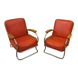 Kem Weber for Lloyd Manufacturing Lounge Chairs - a Pair For Sale