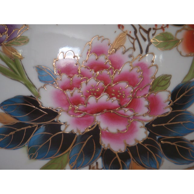 """Large Oriental Gold/Floral Hand Painted Vase H22"""" - Image 4 of 6"""