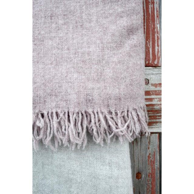 FirmaMenta Italian Ice Gray Gauze Throw For Sale - Image 10 of 11