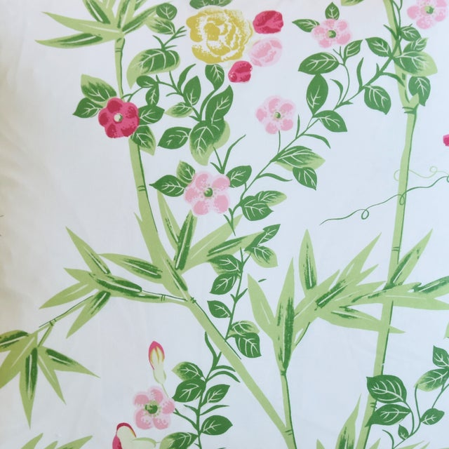 """French Country Scalamandré Floral De Jardin Chine Feather/Down Pillow 20"""" Square For Sale - Image 3 of 6"""