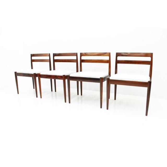 "Kai Kristiansen Dining Chairs ""Universe 301"" for Magnus Olesen Denmark 1960s For Sale - Image 13 of 13"