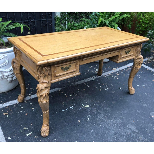 William Switzer Charles Pollock for William Switzer Chinese Chippendale Writing Table Desk For Sale - Image 4 of 5