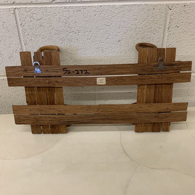 Italian Bamboo Hat or Towel Rack For Sale - Image 4 of 12