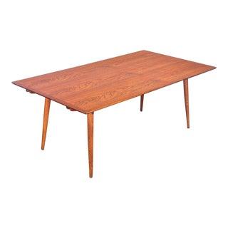 Hans J. Wegner JH570 Exapandable Teak Dining Table for Johannes Hansen For Sale