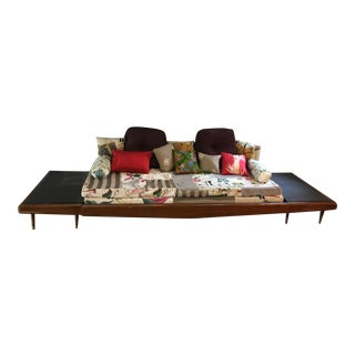 Mid Century Platform Pullout Sofa Daybed For Sale