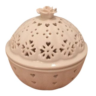 Pierced Round Lidded Trinket Box