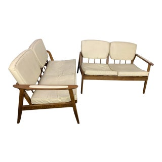 Vintage Mid Century Sofa Sectional- A Pair For Sale