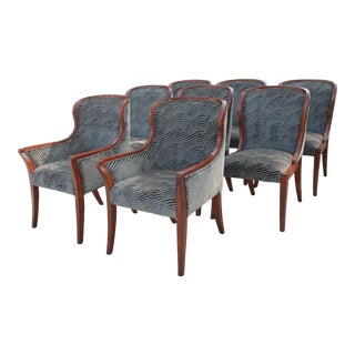 Custom Jonathan Charles Dining Chairs - Set of 8 For Sale