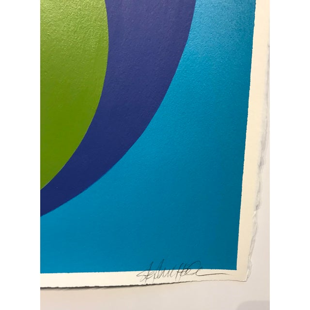 Original Double Dot in Calypso and Spanish Green Olive by Stephanie Henderson - Image 2 of 5