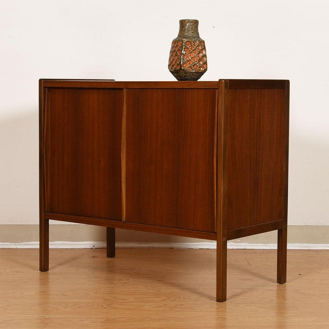 Compact Mid-Century Swedish Modern Cabinet in Walnut by Dux For Sale - Image 11 of 13