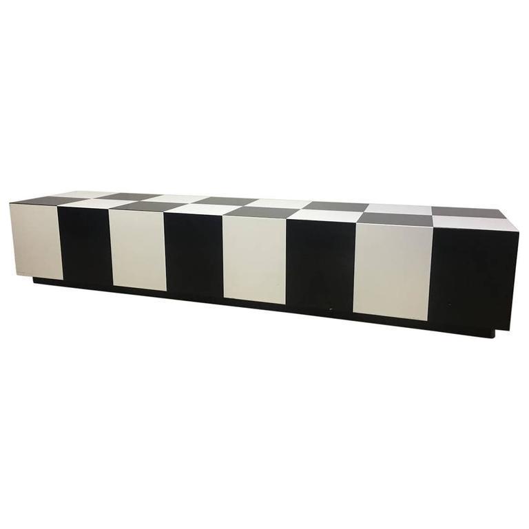 Beau Milo Baughman Checkerboard Coffee Table