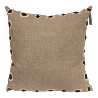Natural Linen Toss Pillow For Sale
