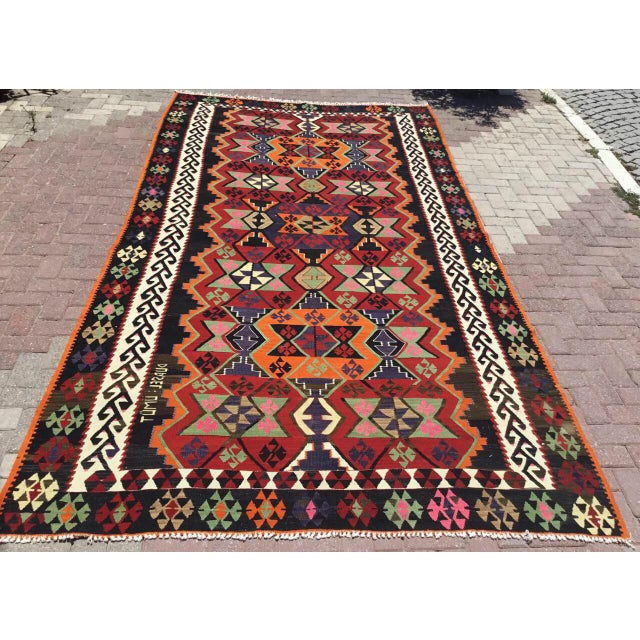 Turkish Kilim Rug For Sale - Image 9 of 9